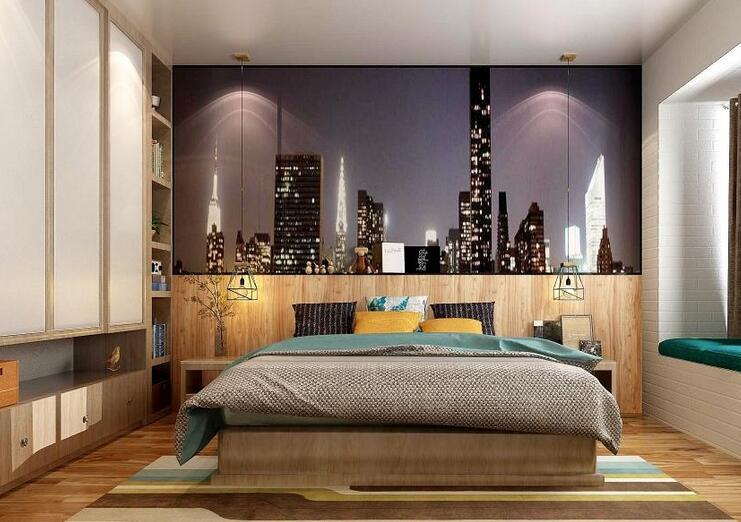 61.29㎡两室两厅简洁明亮的全屋定制家居