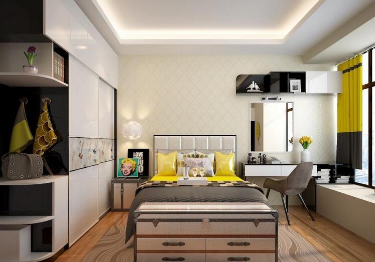 90-100㎡两室两厅定制现代时尚家具质感之家